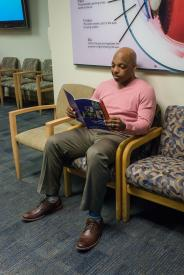 image tagged with doctor's appointment, man, reading, provider, read, …;