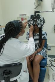 image tagged with women, exam, eye exam, girls, medical device, …;