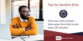 image tagged with break, infographic, health, african-american, eye, …;