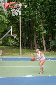 image tagged with ball, physical activity, basketball, exercise, outdoors, …;