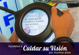 image tagged with spanish, reading, magnifier, low vision, accessibility