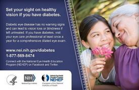 image tagged with eye health, diabetic retinopathy, nehep, diabetes, national eye health education program, …;