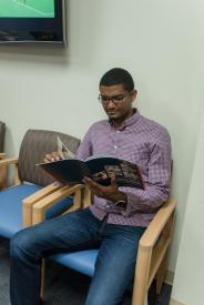 image tagged with waiting room, reading, read, african-american, provider, …;