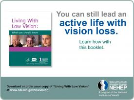 image tagged with low vision, active, national eye health education program, nih, eye disease, …;