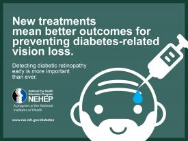 image tagged with infographic, diabetes, early detection, nih, diabetic retinopathy, …;